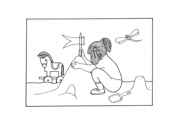 Děvčátko na pískovišti